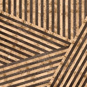 Tilted Stripes  / Dark Wood