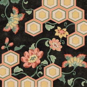 Honeycomb Floral / Black